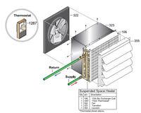 Central Boiler (complete) Suspended Space Heater (100 Btu)