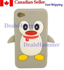3D-Cute-Penguin-Silicone-Rubber-Skin-Case-Cover-for-Apple-iPhone-4-4S-4G-Gray-CA