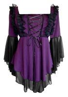 Plus Size Purple Black Gothic Renaissance Fairy Tale Corset Top 1x 2x 3x 4x 5x