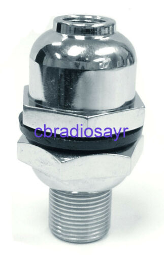 3/8 Chrome Heavy Duty Dome Mount - Suitable for CB Radio Antenna Aerial