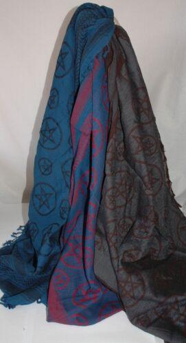 Pour femme fait main tissé Festival écharpe avec franges 5 pointu étoile de la paix