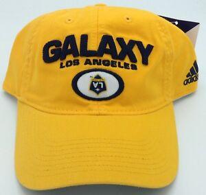 ad18bbd26498e MLS Los Angeles Galaxy Adidas Buckle Back Cap Hat Beanie Style ...