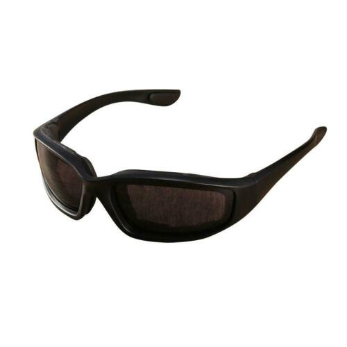 Night Driving Riding Padded Motorcycle Glasses Black Clear Yellow Lens JD