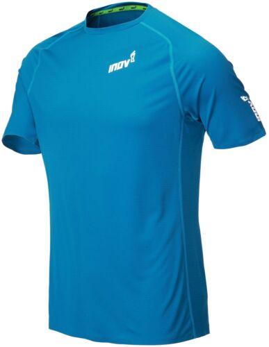 Blue Inov8 Base Elite Short Sleeve Mens Running Top