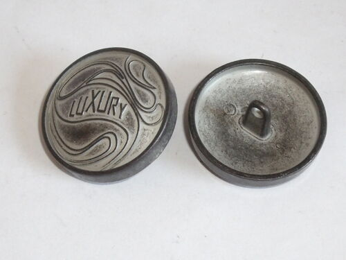 6 Stück Metallknöpfe Knopf Ösenknopf  17 mm silver//graphite NEU rostfrei #431.2#