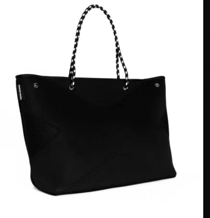La borsa x nero Neoprene Tote Bag