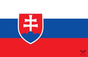 Flagge-Slowakei-Aufkleber-8-5-x-5-5-cm-Fahne-Sticker-WHATABUS
