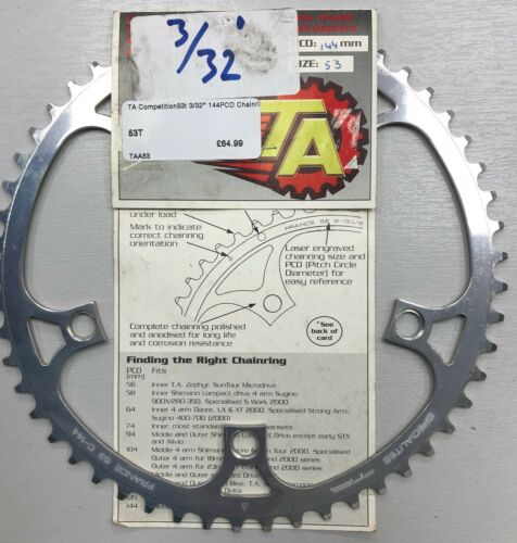 """NEW TA specialities Track Fixie chainrings T6 7075 alloy 1//8/"""" and 3//32/"""""""