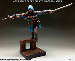 Assassin's Creed Pirate Edward James,Tin toy soldier 54mm, figurine,HAND PAINTED