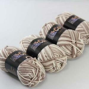 Lot-of-4ballsx50g-new-Baby-Cotton-Colorful-Socks-Hand-Knitting-Yarn-Beige-Khaki
