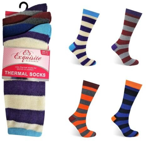 Ladies Thermal Socks Thick Winter Warm Extra Heat Womens Size 4-7