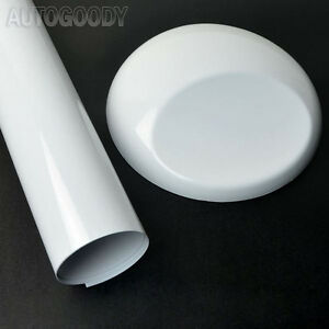 12-034-x-60-034-Gloss-White-Vinyl-Film-Wrap-Sticker-Decal-Air-Bubble-Free-1ft-x-5ft