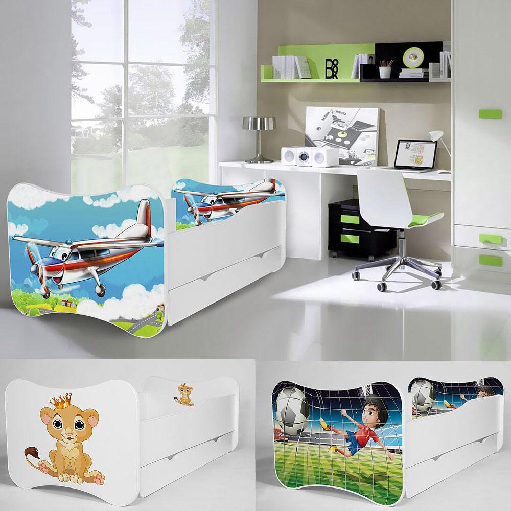 Nouveau bébé enfants lit 140x70 ou 160x80 avec matelas tiroir Boys & Girls