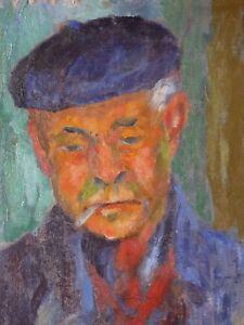 Giuseppe-Interprete-1893-1967-Portrait-Man-Autoportrait-Presumed-Italy-Rome