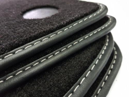 Auto tappetino Mercedes Classe E w211 ORIGINALE cucitura decorativa in velour nero 4 pezzi