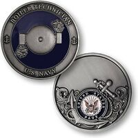Us Navy Boiler Technician Challenge Coin Bt Rating Rate Usn Petty Officer Tech