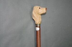 Edler-Holz-Sammler-Gehstock-Wanderstock-Spazierstock-Walking-Stick-93-cm-Hund