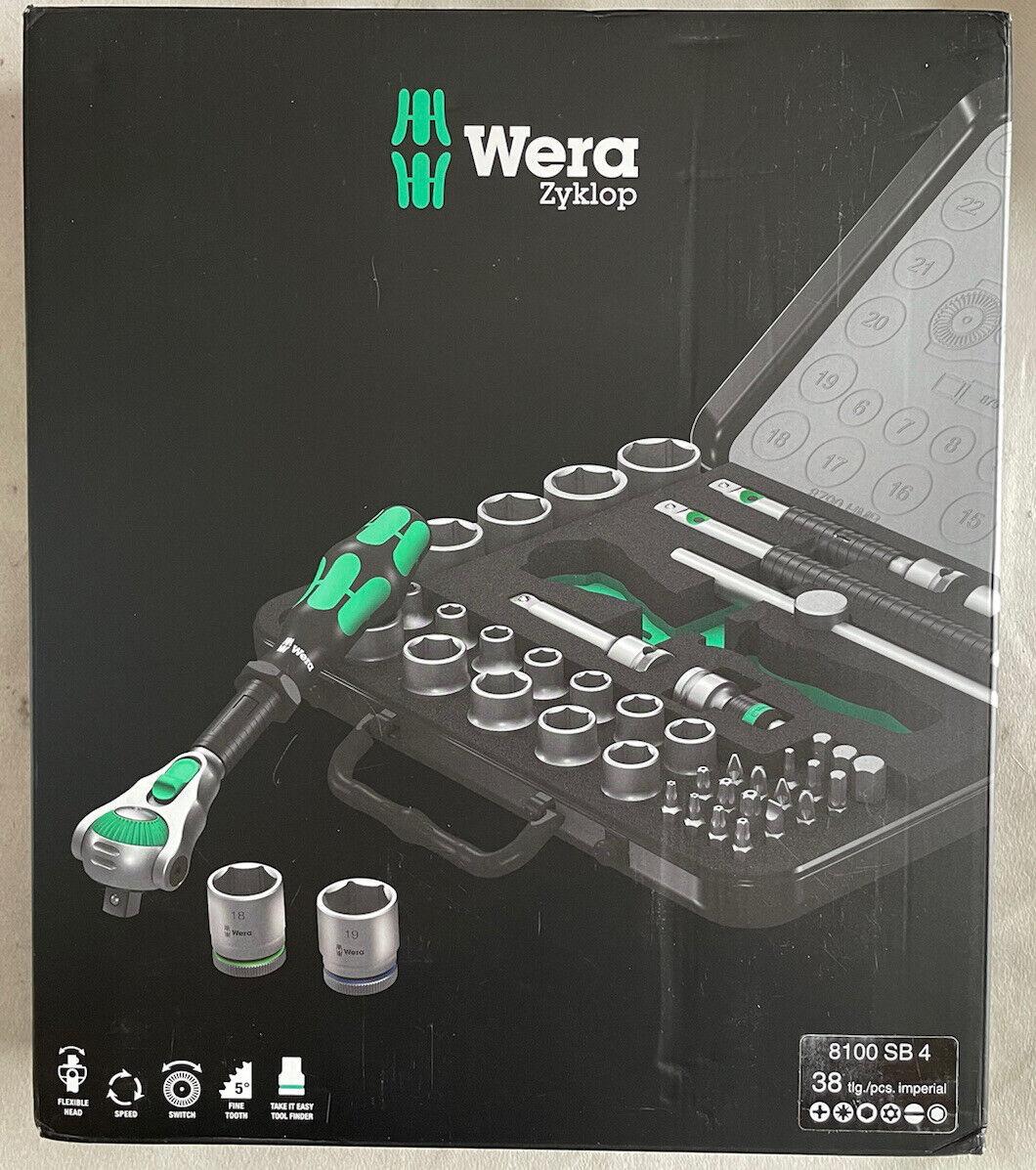 Wera 05003596001 8100 SB 4 Zyklop Speed Ratchet Set, 3/8