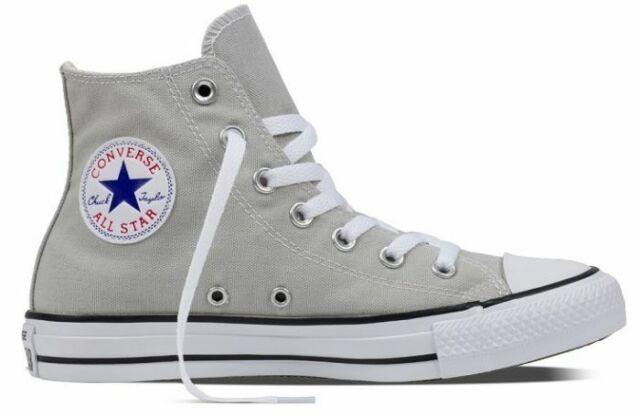 1211e6f1821ad Converse All Star Hi Top Light Gray Canvas Chuck Taylor 155565F 100%  Original
