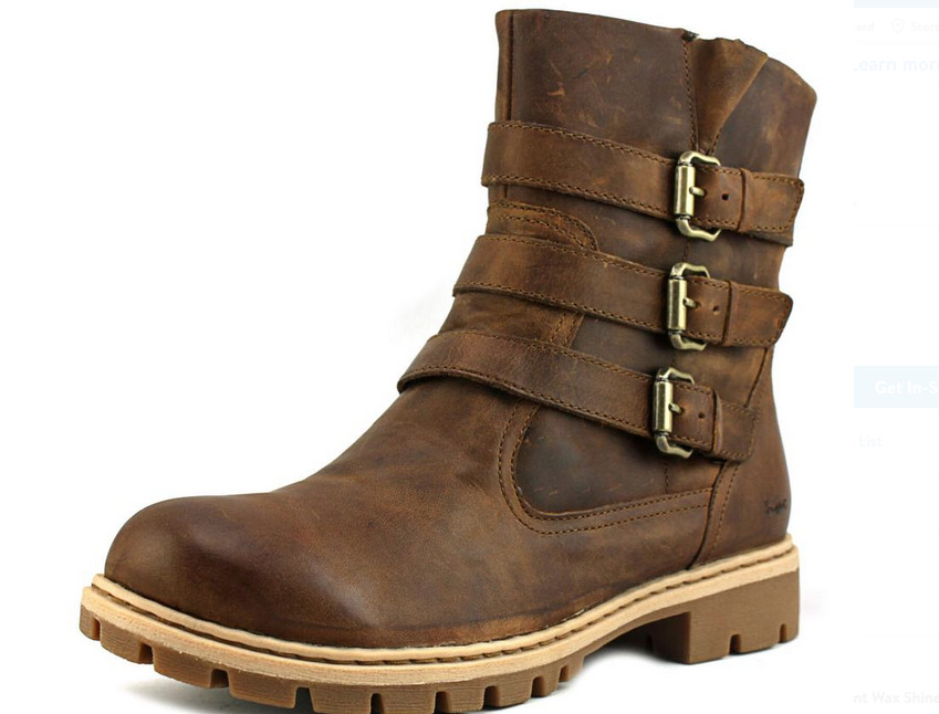 NEW BORN B.O.C CAPRERA BROWN MID ANKLE BOOTS WOMENS 7.5 GENUINE LEATHER Z20141