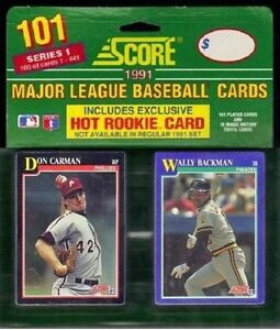 Details About 1991 Score Series 1 Major League Baseball Cards Brand New Box