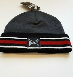 301c5d2cb Details about Tapout Grey With Blue , Red and White Striped Beanie