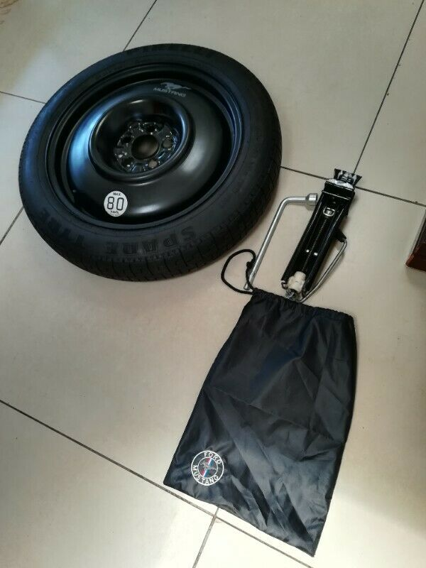 Ford Mustang 5.0 18 inch Space Saving Spare Wheel with Tools and Bag