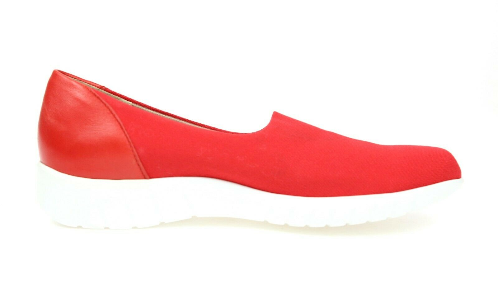 Munro Yacht Yacht Yacht Red Coral Stretch Canvas Slip On shoes Sz 6.5 N 1298 38ef53