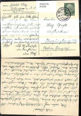 FäHig 263020,ganzsache Stempel Dillingen A. D. Donau 1937 Duftendes (In) Aroma
