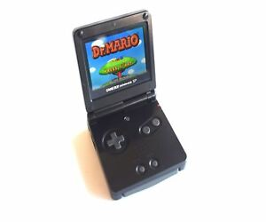 Nintendo-Gameboy-Advance-GBA-SP-Retroiluminado-Consola-Negra-AGS-101-retroiluminacion-LCD-Mod