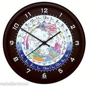 New trintec world time clock 24 time zones colorful map utc gmt zulu new trintec world time clock 24 time zones sciox Gallery