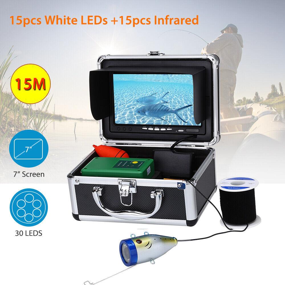 7,0  LCD Unterwasser 15M Fischerkamera 30 LED HD 1000TVL Fishfinder 145 ° Grad