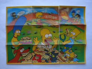 1998-CC-039-s-THE-SIMPSONS-3D-PUZZLE-PICTURE-TAZO-SET-OF-9-B