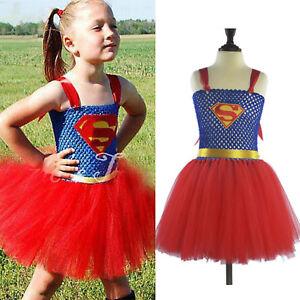 Nino-Nina-Disfraz-de-Superheroe-Supergirl-Cosplay-Conjunto-Fiesta-Falda-Tutu