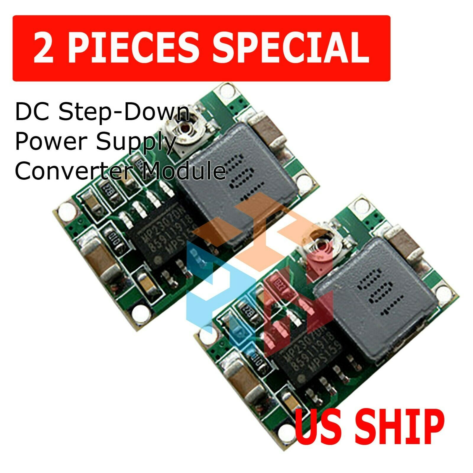 4Pcs MINI360 3A DC-DC step down power supply converter module MP2307 chipBJ