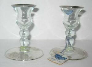 Crystal Candle Holders Silver City