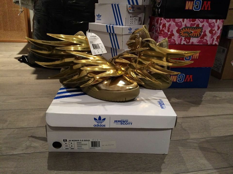 ADIDAS JEREMY SCOTT WINGS 3.0 METALLIC gold SHOES SZ 8.5-11.5 100% AUTHENTIC