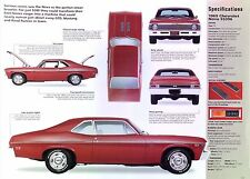 1969 Chevrolet Nova SS 396 ci 375 hp L-78 IMP Info/Specs/photo 11x8