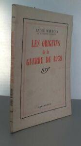 Andre-Maurois-las-Origenes-de-la-Guerra-1939-Gallimard-Pin-ABE