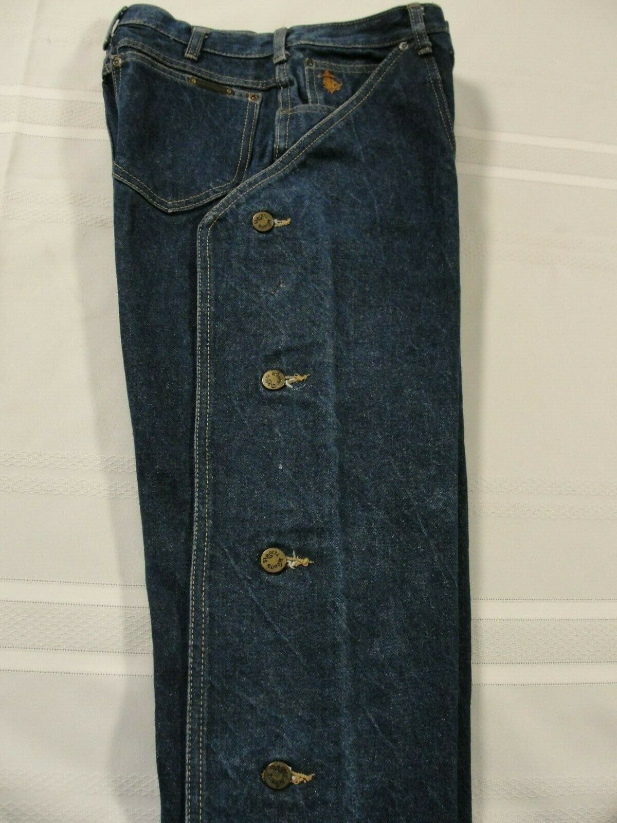 Kenny Rogers Men's Vintage Jean Chaps, Size 26 X … - image 1