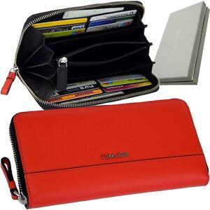 f78667266be24b Das Bild wird geladen CALVIN-KLEIN-Damen-Geldboerse-Rot-Brieftasche- Geldbeutel-Geldtasche-