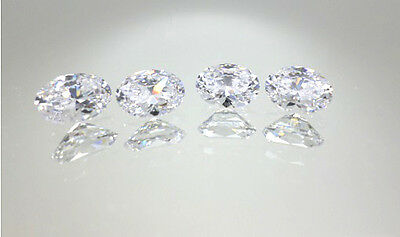 4 Piece Lot 6x8mm Oval Fine AAAAA Quality Loose CZ Cubic Zirconia Gems