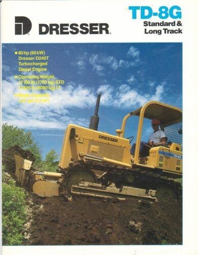 Equipment Brochure - Dresser - TD-8G - Standard Long Track - 1989 (EB771)