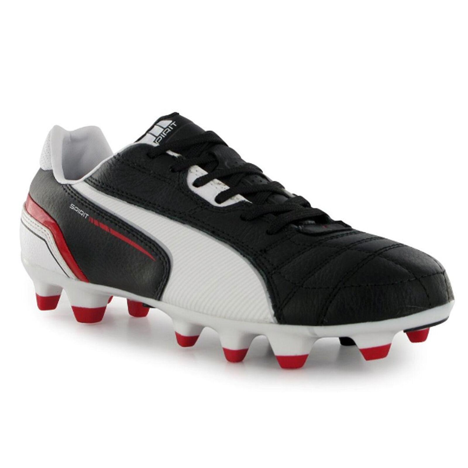 200f8e45b Puma Spirit FG Junior Kids Football Boots Shoes New - Red Black White