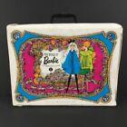Vintage 1968 Mattel The World of Barbie Doll Case White Blue No. 1007 17x4x13