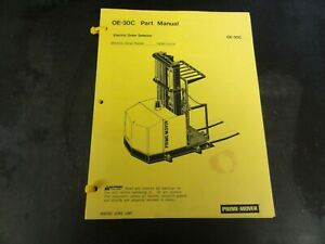 Prime-Mover-OE-30C-Forklift-Electric-Order-Selector-Parts-Manual-June-1987