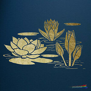 Water Lily Stencil Template: Extra Large:: ST47XL   eBay