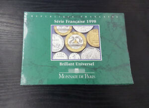 France-Coffret-Officiel-BU-Brillant-Universel-10-pieces-1998-Neuf