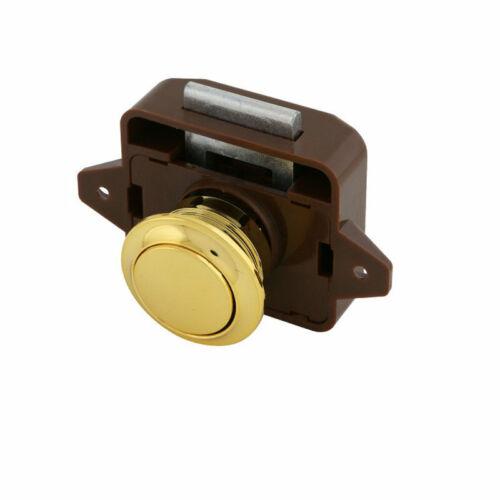 Push Button Catch Lock Cupboard Door Knob For Caravan Boat Cabinet Drawer Latch