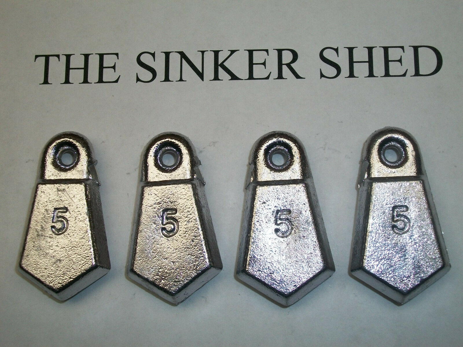 5 oz flat bank sinkers / decoy weight weight decoy - quantity of 10/25/50 - FREE SHIPPING 4ffaf3